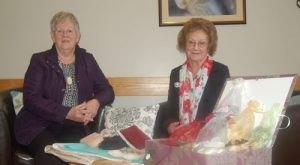 Margaret & Sheila make a crafting donation