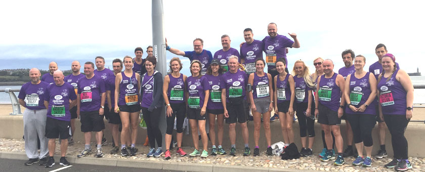 !! Running team at South Shields before the run