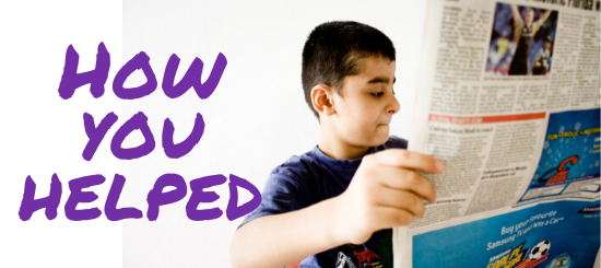 How you helped - kids & young people