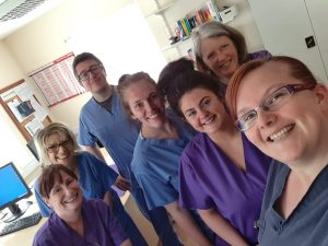 Dr James and his colleagues